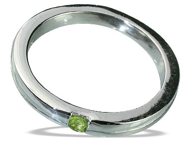 Design 13151: green peridot brides-maids rings