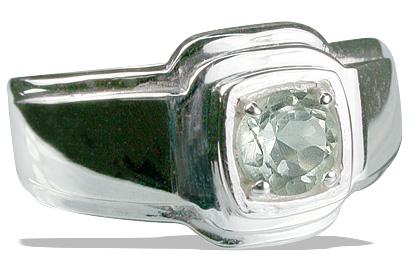 Design 13180: green green amethyst contemporary rings