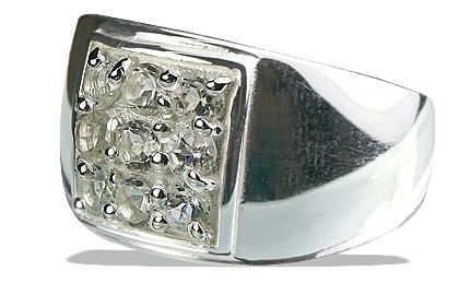 Design 13232: white white topaz mens rings