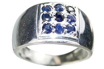 Design 13234: blue sapphire mens rings
