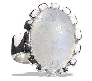 Design 13235: white moonstone rings
