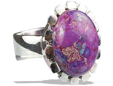Design 13236: purple,multi-color mohave flower rings
