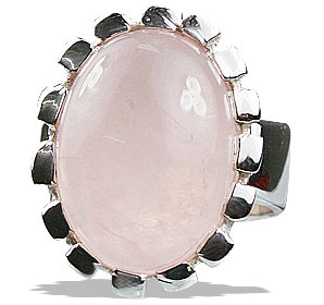 Design 13237: pink rose quartz rings
