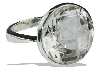 Design 13244: white crystal mens rings
