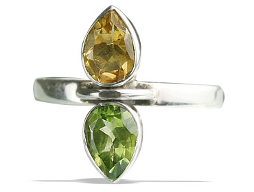 Design 13295: green,yellow peridot contemporary rings