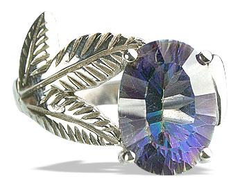 Design 13341: blue,multi-color mystic quartz vintage rings