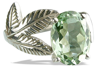 Design 13342: green green amethyst vintage rings