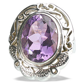 Design 13347: purple amethyst cocktail rings