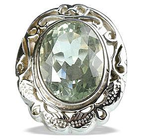 Design 13348: green green amethyst vintage rings