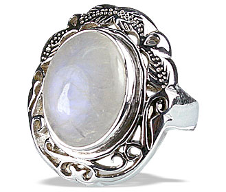 Design 13349: white moonstone vintage rings