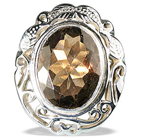 Design 13350: brown smoky quartz vintage rings