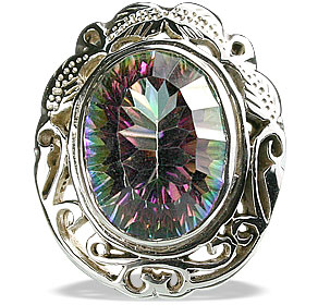 Design 13351: multi-color mystic quartz vintage rings