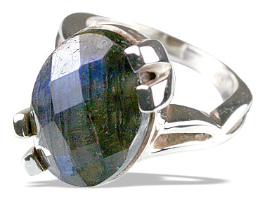 Design 13517: green,gray labradorite rings