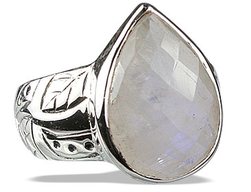 Design 13518: blue,white moonstone staff-picks rings