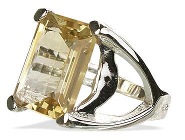 Design 13593: yellow citrine art-deco rings