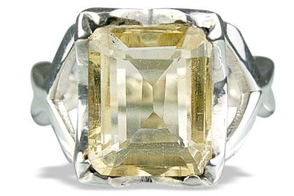 Design 13594: yellow lemon quartz rings