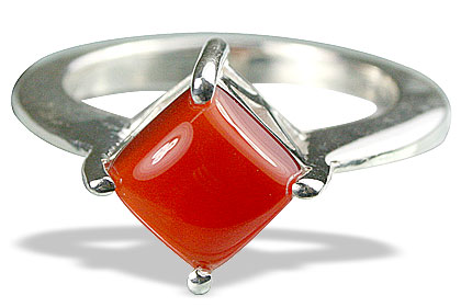 Design 13598: orange carnelian rings