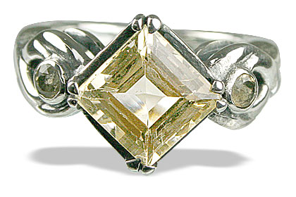 Design 13601: yellow lemon quartz rings