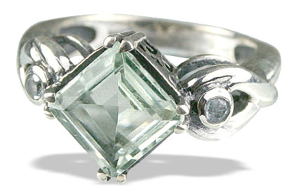 Design 13602: green,white green amethyst staff-picks rings