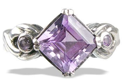 Design 13603: purple amethyst rings