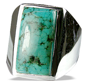 Design 13688: green turquoise american-southwest, mens rings