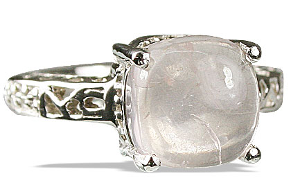Design 13689: pink rose quartz rings