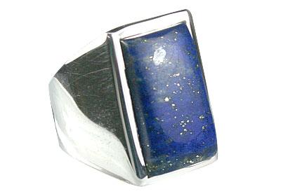 Design 13690: blue lapis lazuli mens rings
