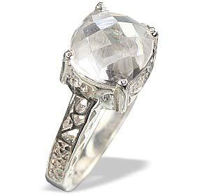 Design 13694: white white topaz rings