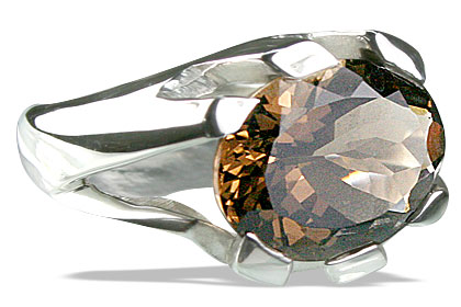 Design 13698: brown smoky quartz mens rings