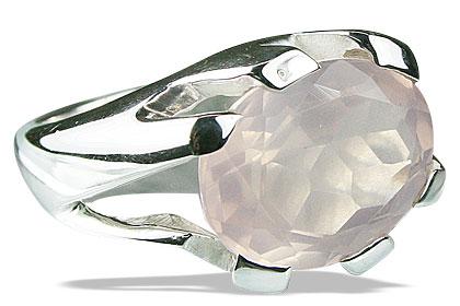 Design 13699: pink rose quartz rings