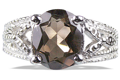 Design 13702: brown smoky quartz gothic-medieval rings