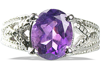 Design 13703: purple amethyst rings