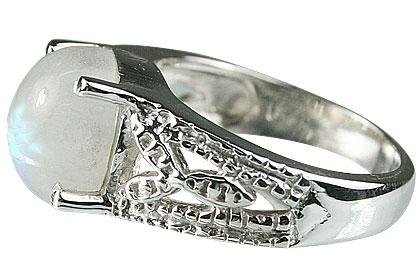 Design 13704: white moonstone gothic-medieval rings