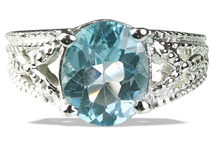 Design 13705: blue blue topaz engagement, gothic-medieval rings