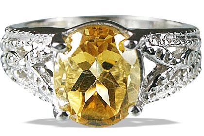 Design 13708: yellow citrine rings