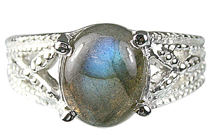 Design 13709: blue,gray labradorite rings