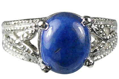 Design 13710: blue lapis lazuli vintage rings