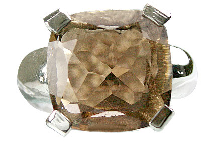 Design 13711: brown smoky quartz mens rings