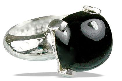 Design 13714: black,gray onyx rings