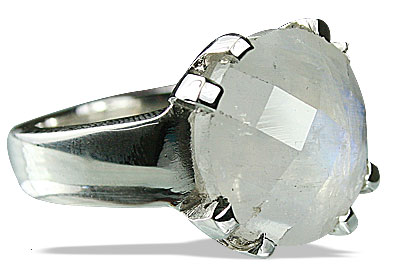 Design 13773: white moonstone rings