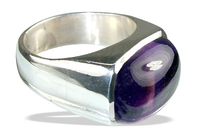 Design 13863: purple amethyst contemporary rings