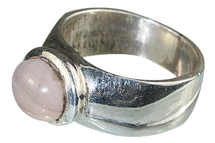 Design 13869: pink rose quartz contemporary rings
