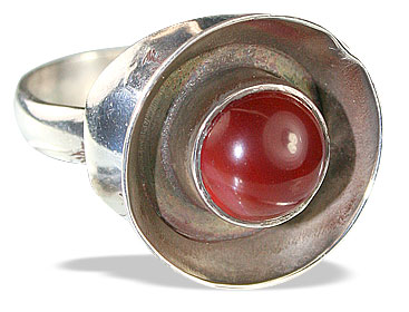 Design 13875: orange carnelian art-deco rings