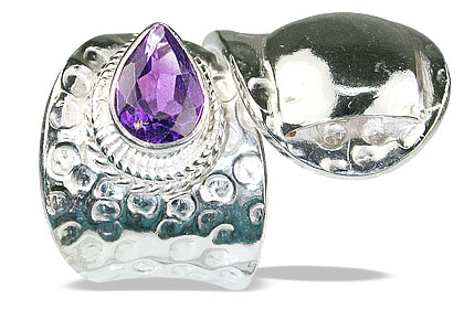 Design 13883: purple amethyst adjustable rings