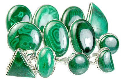 Design 14035: green bulk lots rings