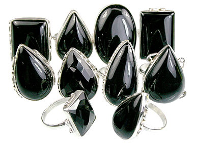 Design 14050: black onyx rings