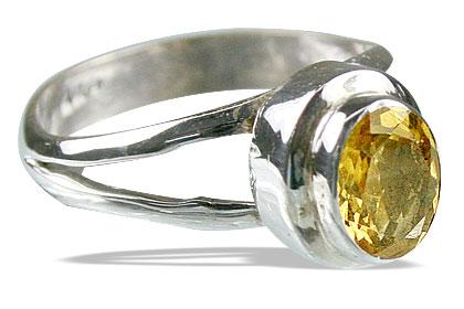 Design 14116: yellow citrine contemporary rings