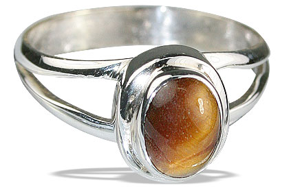 Design 14117: yellow tiger eye contemporary rings