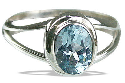 Design 14120: blue blue topaz contemporary rings