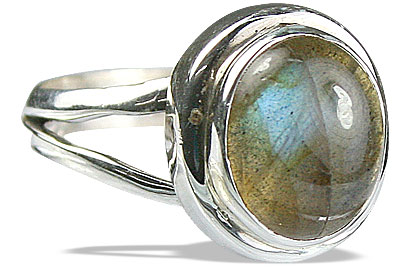 Design 14123: blue,brown,green labradorite contemporary rings